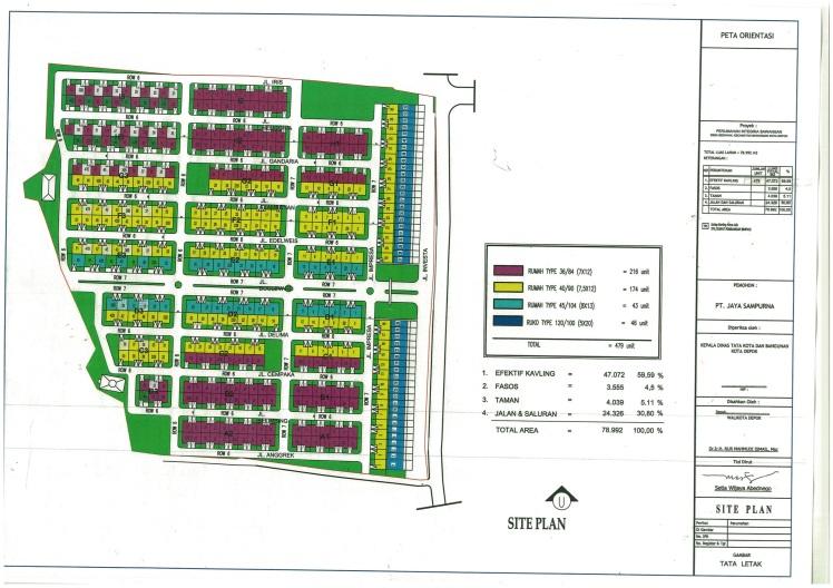 Siteplan Bedahan Sawangan Color
